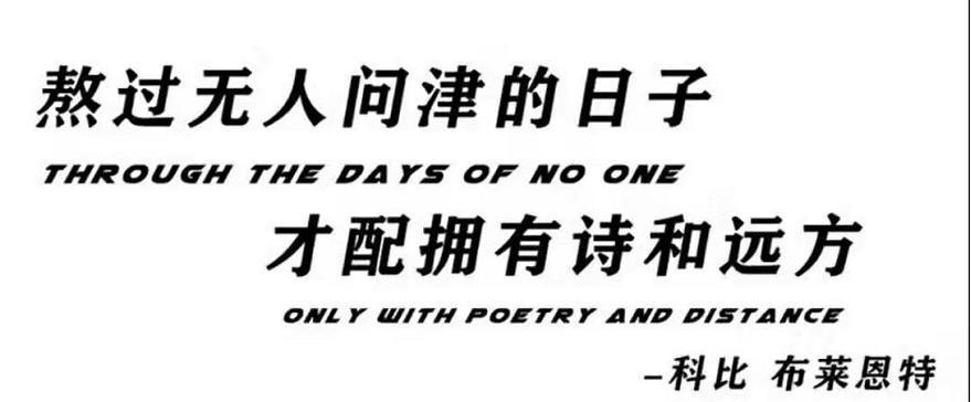 熬过无人问津的日子,才配拥有诗和远方